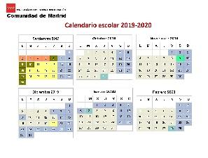 Calendario Escolar 2020 2019 Comunidad De Madrid.Menu Para El Calendario Escolar 2019 20